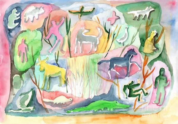 Painting - Abstraction Living World by Irina Dobrotsvet