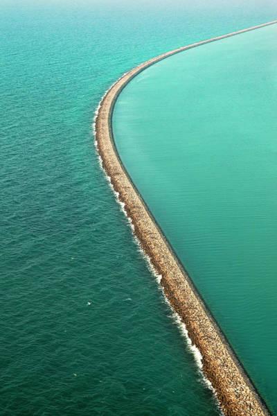 Boundaries Wall Art - Photograph - Abu Dhabi - Lulu Island Outer Barrier by Figurative Speech