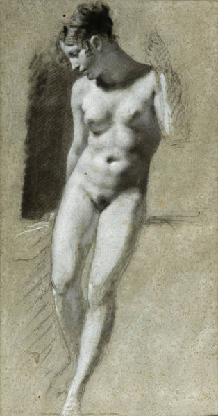 Drawing - Academie Of A Standing Woman by Pierre Paul Prudhon
