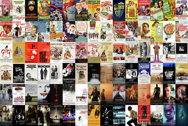 Wall Art - Digital Art - Oscars Best Picture All Time by Zapista Zapista