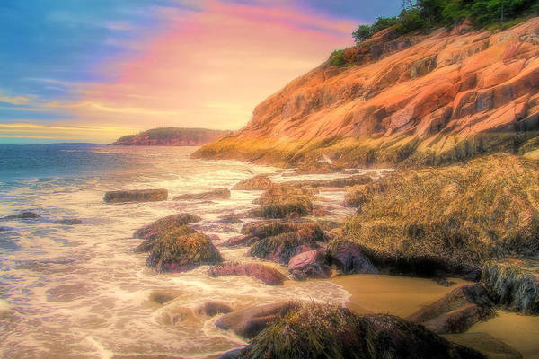 Mixed Media - Acadia National Park Sand Beach by Dan Sproul
