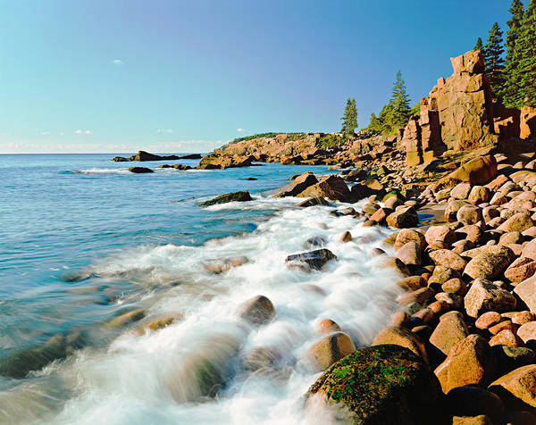Water Photograph - Acadia National Parks Rocky Atlantic by Ron thomas