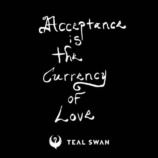 Painting - Acceptance Quote by Teal Eye Print Store