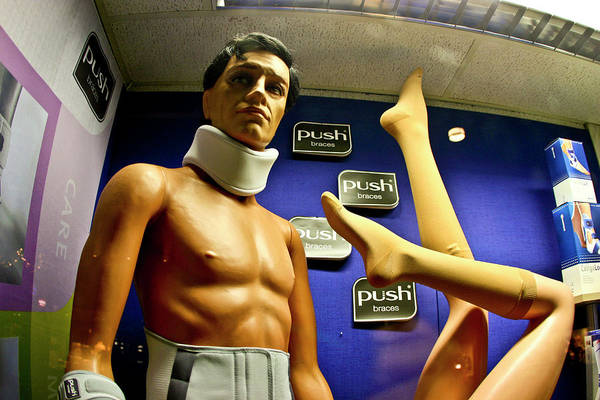 Neck Brace Photograph - Accident Prone Mannequin by Will Elmore