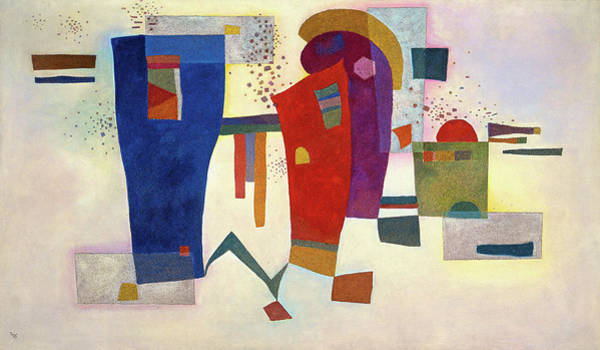 Wall Art - Painting - Accompanied Contrast, 1935 by Wassily Kandinsky
