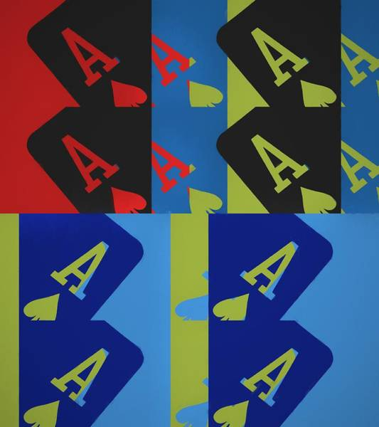Wall Art - Mixed Media - Ace Of Spades Pop Art Collage by Dan Sproul
