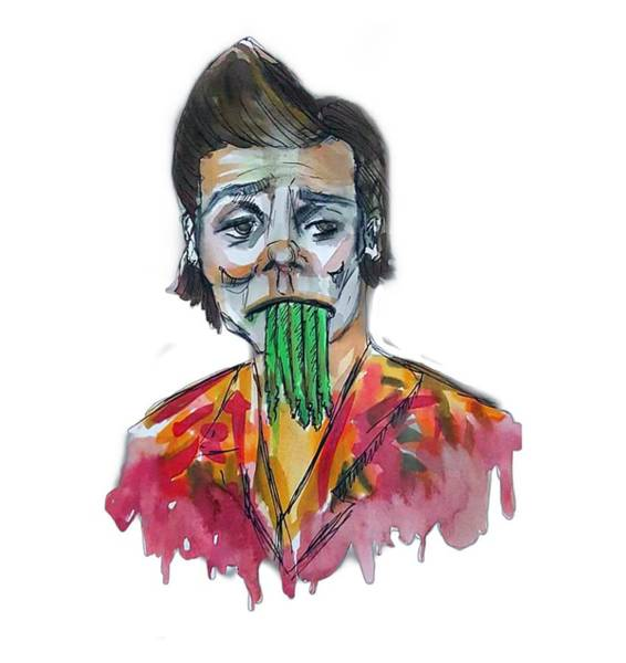 Jim Carrey Painting - Ace Ventura by Jeanette Geant