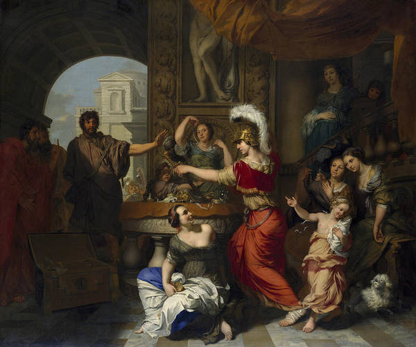 Painting - Achilles Discovered Amongst The Daughters Of Lycomedes by Gerard de Lairesse