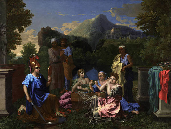 Wall Art - Painting - Achilles On Skyros, 1656 by Nicholas Poussin