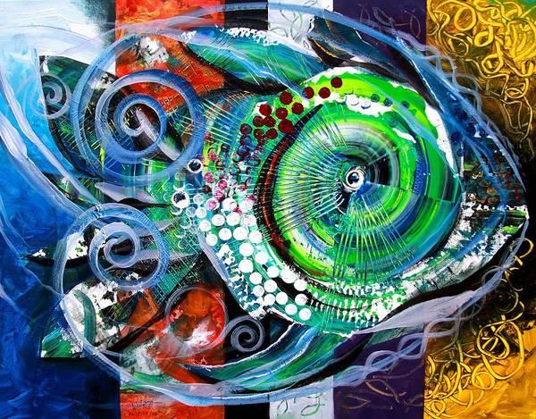 Painting - Acidfish, 104 by J Vincent Scarpace