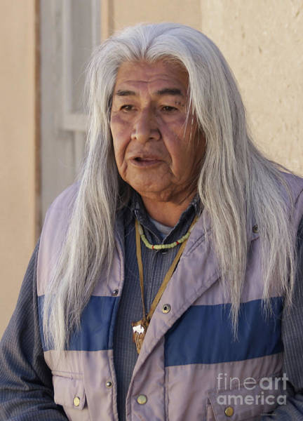 Wall Art - Photograph - Acoma Tribal Leader by Debby Pueschel