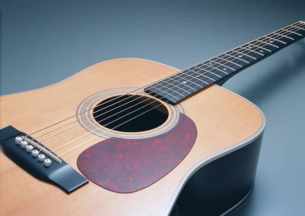 Acoustic Guitar Photograph - Acoustic Guitar by Imagenavi