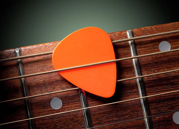 Wall Art - Photograph - Acoustic Guitar With Pick by Malerapaso