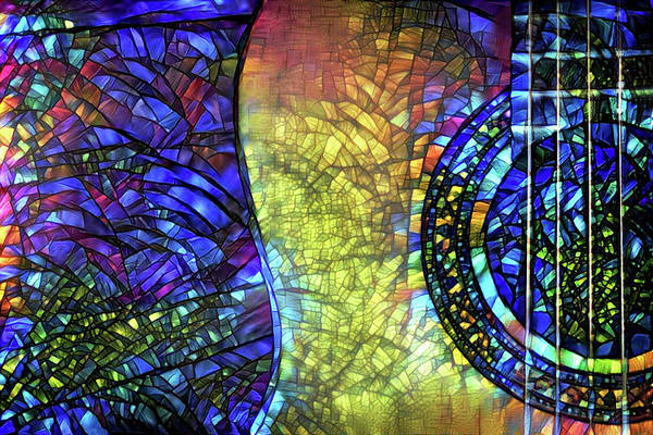 Digital Art - Acoustic Guitar Worship by Peggy Collins