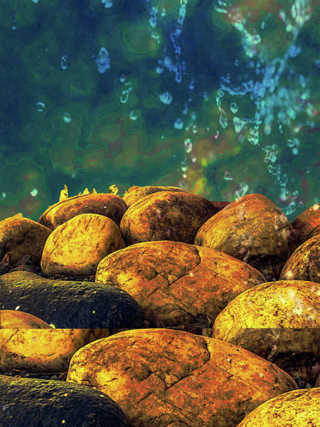 Photograph - Acquatic Stones by AE collections