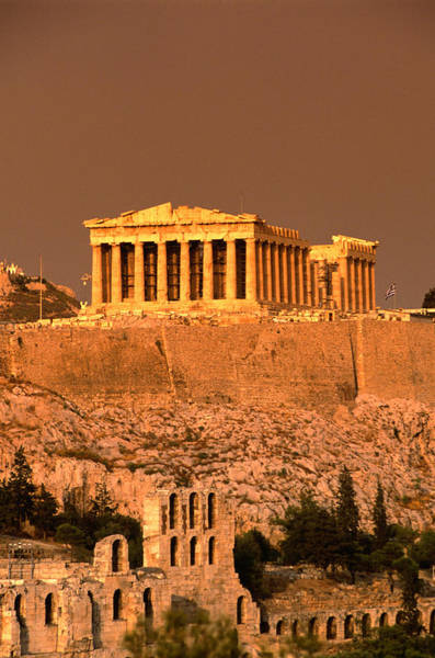 Ancient Greek Photograph - Acropolis And Parthenon From Filopappou by Lonely Planet