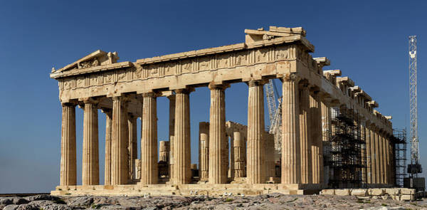 Ancient Greek Photograph - Acropolis Of Athens Parthenon by Efilippou