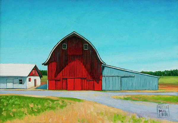 Wall Art - Painting - Across From The Drive-in by Stacey Neumiller