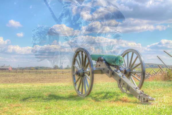 Wall Art - Digital Art - Across Now Silent Fields Of Gettysburg by Randy Steele