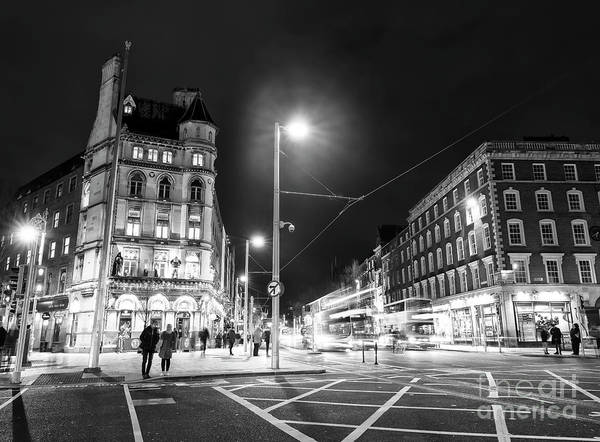Wall Art - Photograph - Across O'connell Street At Night Dublin by John Rizzuto