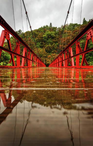 Jason Day Photograph - Across Red Bridge by Jason Arney