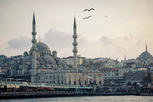 Galata Photograph - Across The Golden Horn by Peter Stasiewicz