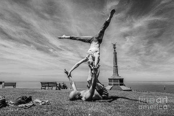 Photograph - Acroyoga In Aberystwyth by Keith Morris