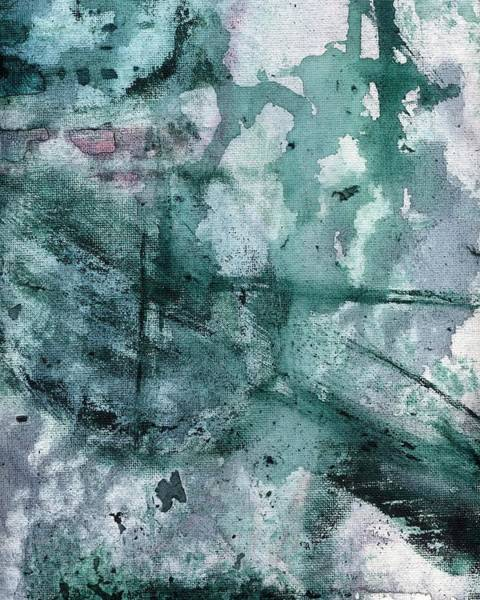 Painting - Acrylic Abstract Painting On Canvas, Purple And Green Abstract 4 by Itsonlythemoon