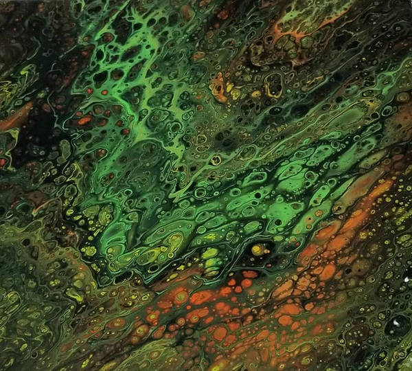 Painting - Acrylic Pour Abstract 7 by Artful Oasis