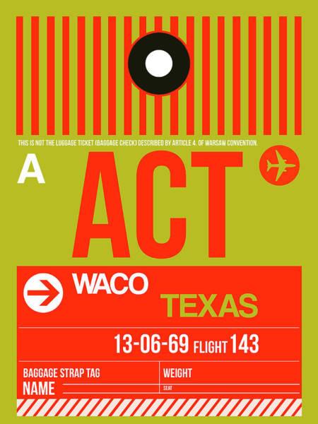 Wall Art - Digital Art - Act Waco Luggage Tag I by Naxart Studio