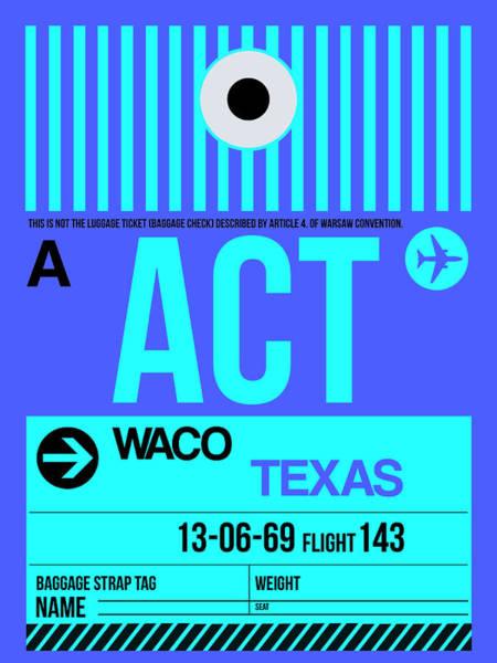 Wall Art - Digital Art - Act Waco Luggage Tag II by Naxart Studio