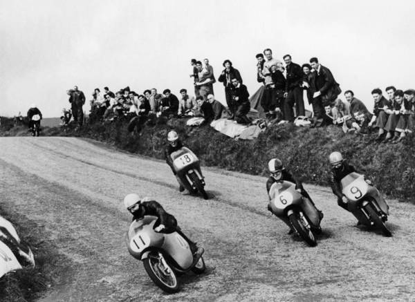 Motorcycle Racing Photograph - Action From The Lightweight Tt Race by Heritage Images