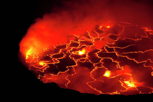 Lava Lakes Photograph - Active Crater Lake by Werner Van Steen