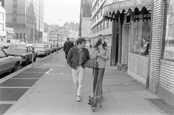 Greenwich Village Photograph - Actor Dustin Hoffman With Wife Anne by John Dominis