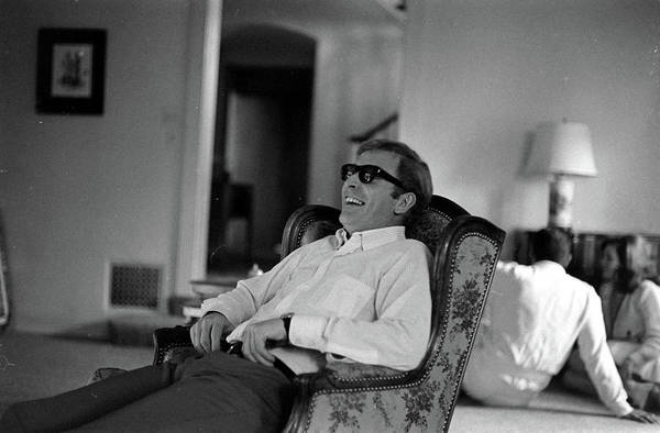 Laughing Photograph - Actor Michael Caine Laughing In Los by Bill Ray