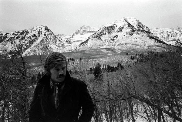 Actor Photograph - Actor Robert Redford On His Property In by John Dominis