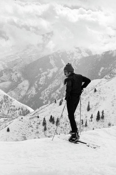 Human Interest Photograph - Actor Robert Redford Skiing by John Dominis