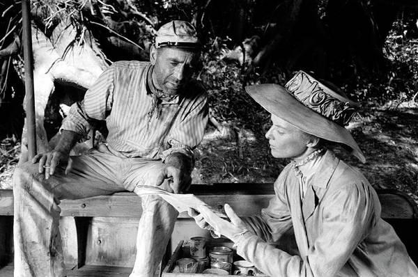 Photograph - Actors Humphrey Bogart & Katherine by Eliot Elisofon