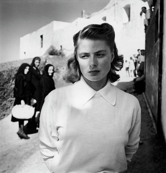 1900 Photograph - Actress Ingrid Bergman Attracting by Gordon Parks