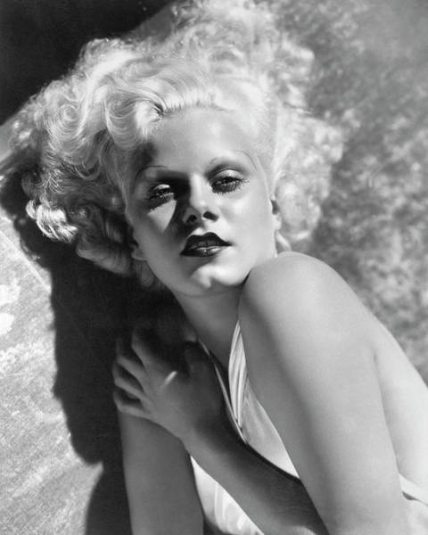 Actress Jean Harlow In Seductive Pose Art Print by Bettmann