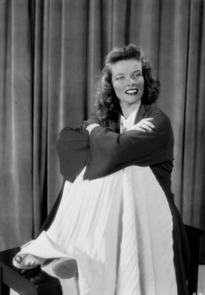 Photograph - Actress Katherine Hepburn by New York Daily News Archive