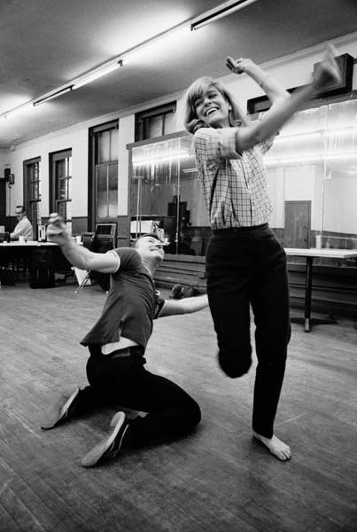 Practice Photograph - Actress Melina Mercouri Practicing A by Henry Groskinsky