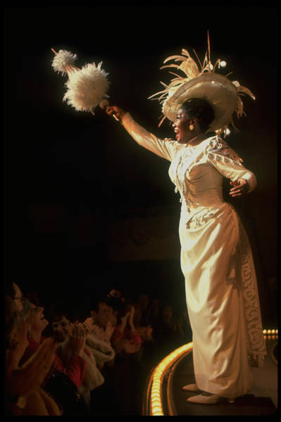 Photograph - Actress Pearl Bailey Pointing Her Paraso by John Dominis
