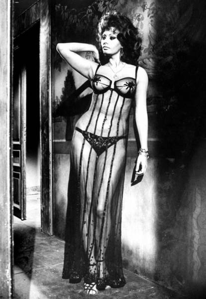 Actress Photograph - Actress Sophia Loren Costumed In Sheer G by Alfred Eisenstaedt
