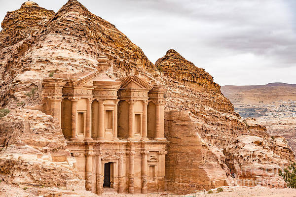 Monastery Wall Art - Photograph - Ad Deir In The Ancient City Of Petra by Richard Yoshida