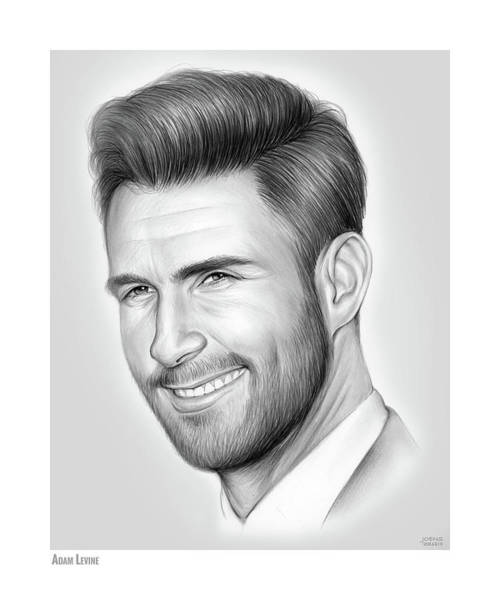 Wall Art - Drawing - Adam Levine by Greg Joens