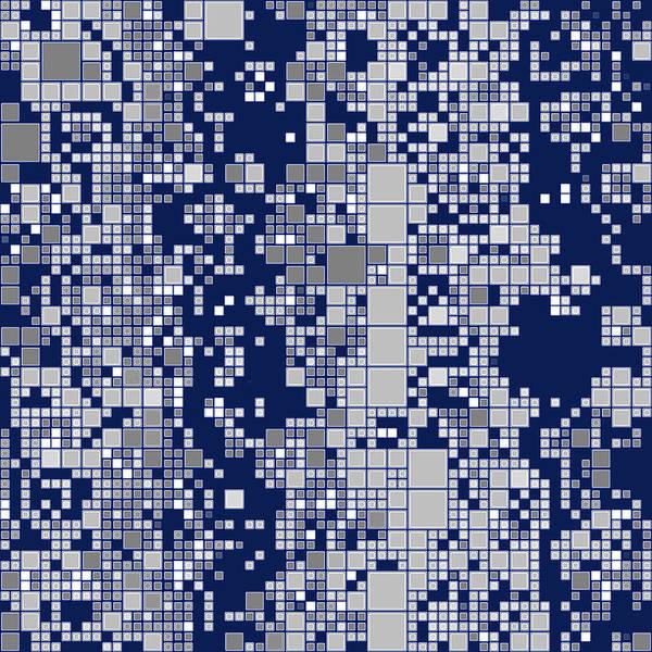 Digital Art - Adaptive Tiling Blues Grays by Joy McKenzie