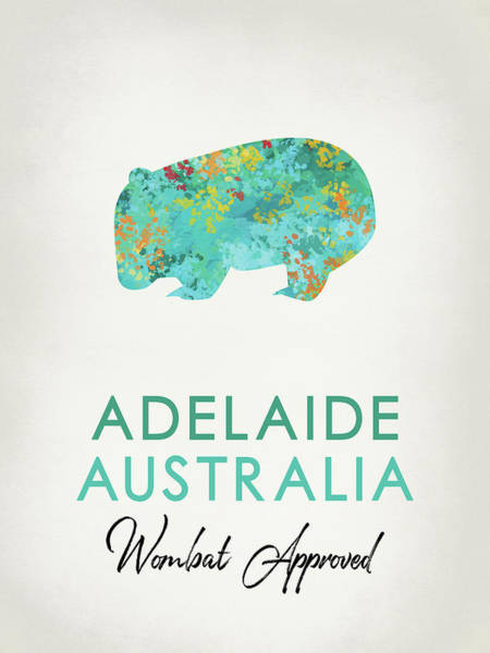 Wall Art - Digital Art - Adelaide Australia Wombat by Flo Karp