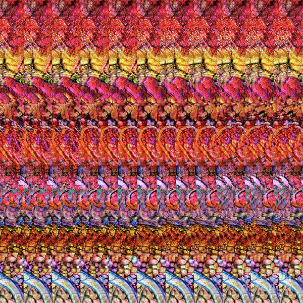 Digital Art - Adenovirus Autostereogram Qualias Gut 1 by Russell Kightley