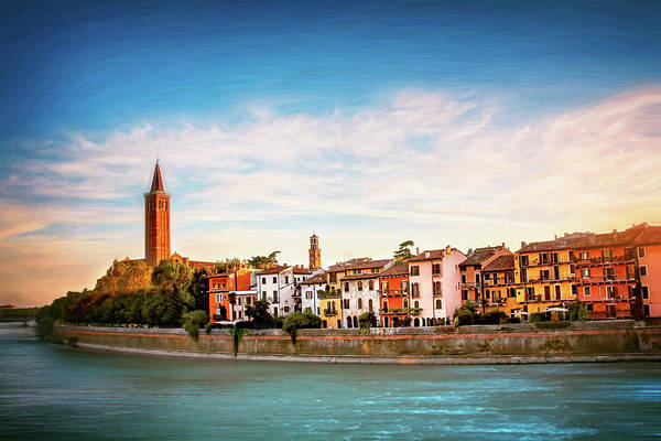 Wall Art - Photograph - Adige River And Historic Old Town Verona Italy  by Carol Japp